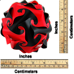 Cyclone Puzzle - Red and Black