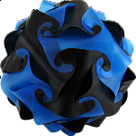Cyclone Puzzle - Blue and Black