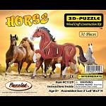Horse - Illuminated 3D Wooden Puzzle