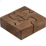 Wooden Spiral - Wedge Key Puzzles