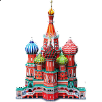 St. Basil's Cathedral - 3D Jigsaw