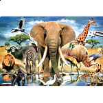 World's Smallest Jigsaw Puzzle - African Oasis