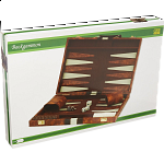 18 inch Backgammon Set - Brown and White