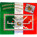 Mexican Train & Chicken Dominoes Double 15 (NUMBERS)