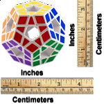 12 Color Holey Megaminx  - White Body - PET labels