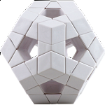 DIY 12 Color Tiled Holey Megamix - white body with glue