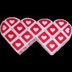Valentine's Siamese Heart 3x3x1 White Cube