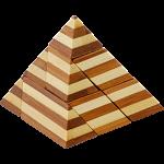 Bamboo Wood Puzzle - Pyramid
