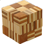 Bamboo Wood Puzzle - Cube Chain