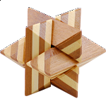 Bamboo Wood Puzzle - Star