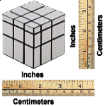 Mirror Cube - 3x3x3 - Silver