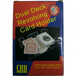 Dual Deck Revolving Card Holder