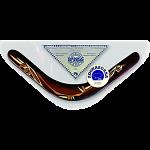 Kookaburra - decorated wood boomerang