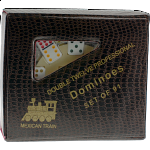 Mexican Train Dominoes - Double 12 Professional Set - DOTS