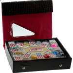 Mexican Train Dominoes Double 12 Professional Set - DOTS