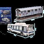 MTA New York City Transit: Bus and Subway Car - 3D Jigsaw