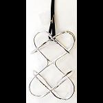 Puzzle Pendant - Double Heart
