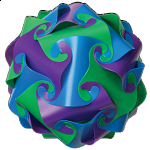 Cyclone Puzzle - Purple, Green and Blue