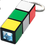 Rubik's Cube: Mini Flashlight Keychain