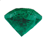 3D Crystal Puzzle - Gem - Emerald Green