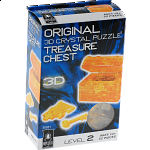 3D Crystal Puzzle - Orange Treasure Chest
