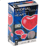 3D Crystal Puzzle - Heart - Red