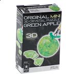 3D Crystal Puzzle Mini - Apple - Green