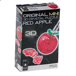 3D Crystal Puzzle Mini - Apple - Red