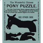 The Wonderful Chinese Pony Puzzle - Blue - Limited Edition