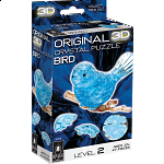 3D Crystal Puzzle - Bird (Blue)