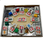 Mexican Train Dominoes - Double 12 Professional Set - NUMBERS