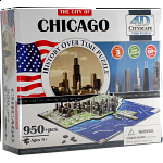 4D City Scape Time Puzzle - Chicago