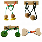 Brain Twister - Wooden Puzzle 4 Pack
