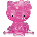 3D Crystal Puzzle - Hello Kitty - Pink