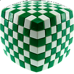 V-CUBE 7 (7x7x7): Illusion - Green and White