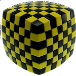 V-CUBE 7 (7x7x7): Illusion - Yellow and Black