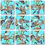 Scramble Squares - Black Capped Chickadees