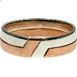 2 Band - Silver & Bronze Puzzle Ring