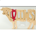 I Love Cows - Wooden Jigsaw