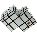 Mirror Double Cube - Black Body with White Labels