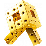 Fight Cube - 3x3x3 - Gold
