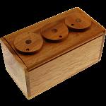 3 Wheel Combination Secret Lock Box