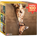 Mini Puzzle - Giraffe Mother's Kiss