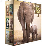 Mini Puzzle - Elephant & Baby