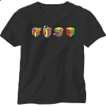 4 Cubes - Black - T-Shirt