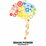 Brain Power - Black - T-Shirt