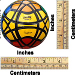 Traiphum Megaminx Ball - (6-color) Black Body