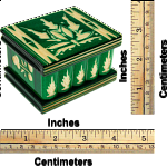 Romanian Puzzle Box - Small Green