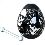 Smart Egg Labyrinth Puzzle - Skull