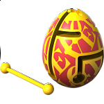 Smart Egg Labyrinth Puzzle - Groovy